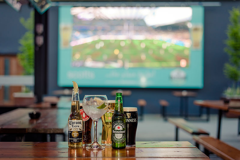 At Scotts Bar we celebrate all the big sporting occasions on our big screen - the biggest outdoor screen in Kerry!